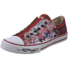 Ed Hardy Women's LR Serrano Burgundy Fashion Sneaker Shoes Canvas & Rubber Sole