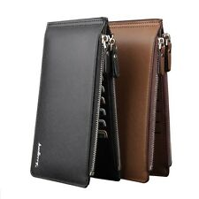 Business Men's Faux Leather Wallet ID Credit Cards Holder Purse Checkbook Clutch