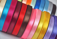 Mixed Colour Satin Ribbon Bundle 10mtrs 6mm 12mm 25mm 38mm Craft Easter