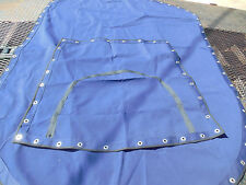 Blue Canvas Bimini Boat Cover Top 57'' x 80'' #U2450