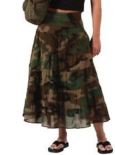 Womens Skirt - Long Cotton Gauze, Woodland Camo by Rothco SIZES S- M-L-XL