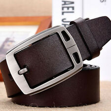 Fashion Mens Genuine Leather Cowhide Vintage Classic Jean Pin Buckle Belts Brown