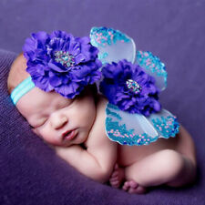 Baby Photo Props Flower Headband Fairy Glitter Butterfly Wings Sets Accessories