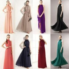 Women Chiffon Dress Formal Wedding Party Evening Ball Gown Long Bridesmaid Dress