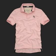 Brand New Mens Polo shirt by AF Abercrombie & Fitch size M L XL in Pink