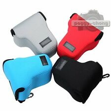 Neoprene Soft Pouch Case Bag Cover For Canon EOS M M2 EF-M 18-55mm Camera Lens