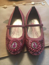 Stride Rite Girls Disney Cinderella Sequin Flats Shoes NEW