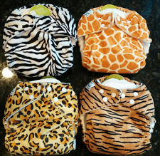 RARE Fuzzibunz Elite  MINKY Cloth  Diapers CHOOSE Zebra, Giraffe, Cheetah, Tiger