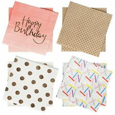 Ginger Ray Party Paper Napkins 20 Pk Birthday Baby Shower Celebration Tableware