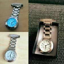 Personalised Engraved Chrome Nurse / Carers Fob Watch -  SAME DAY SHIPPING