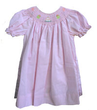 Petit Ami Girls Smocked Birthday Dress Pink Gingham Check Dressy Infant NWT