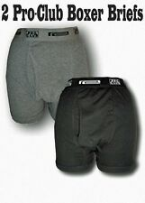 2 New PROCLUB men's underwear Boxer Briefs Pre-Packed PRO CLUB Size 3X Large