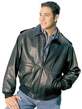 US Air Force A-2 Leather Flight Bomber Jacket Union Made in USA by REED EST.1950