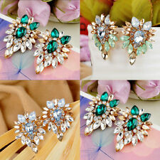 Women Lady Girls Elegant Crystal Rhinestone Ear Stud Earrings Fashion Jewelry