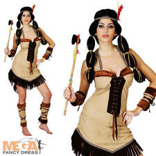 Indian Princess Lady Fancy Dress Western Ladies Cowboy & Indians Womens Costume