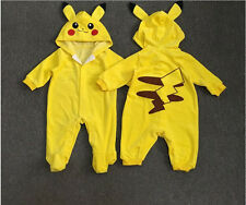 Pokemon Go Infant Baby Boy Girl Pikachu Outfit Jumpsuit Rompers Playsuit 0-24M