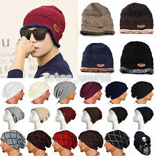 Unisex Mens Womens Warm Winter Beanie Slouchy Ski Hat Soft Oversize Hip Hop Caps