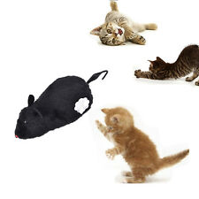 Wind Up Funny Running Mouse Move Tail Cat Kitten Prank Toy Joking Gag Gift ca19