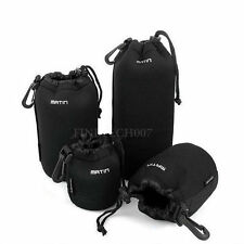 Soft Neoprene DSLR Camera Lens Pouch Bag Case Protector Waterproof Black DP