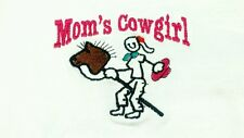 NEW T-Shirt MOM'S COWGIRL Western Youth Tee EMBROIDERY Rodeo Chaps Girl Hat Boot