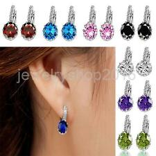 1Pair Ladies Classic Crystal Rhinestone Ear Stud Earrings Ear Clip Fancy Jewelry