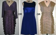 Choose NWT Adrianna Papell Dress: 8P Navy Silk OR 8 Purple OR 8 preowned beige