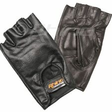 Leather gloves, Fingerless gloves Motorcycle Motorbike Cutfinger S-3XL
