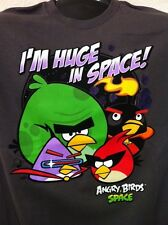 Angry Birds I'm Huge In Space Mens T-Shirt Movie App Birds NWT Graphic Tee