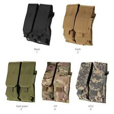 MOLLE Tactical Military Open Double Rifle and Single Pistol Mag Pouch Cool H3R1