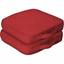 Mainstays Outdoor Dining Seat Cushion with Handle, Set of 2. Shipping is Free