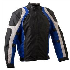 Motorcycle Textile Cordura Jacket Vents and Removable Armour Waterproof Blue/Gre