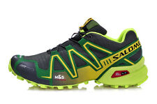 2016 Mens Outdoor shoes Speedcross 3 (Green/Gray)  Running Athletic Sports Shoes