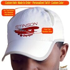 Stinson Voyager Custom Cap Airplane Pilot Hat - Personalized with Your N#