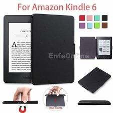 Magnetic Ultra Slim Leather Smart Case Cover Skin For New Amazon Kindle 6