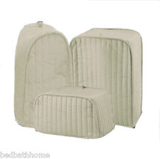 NEW Ritz Quilted Solid Natural Bone Appliance Cover