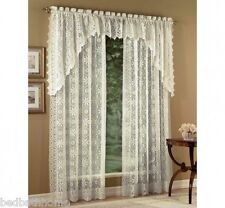 NEW Lorraine Home Fashions Hopewell Lace Curtains - Ivory Cream