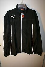 Puma Mens Jacket King Woven Black White Athletic Track Golf NEW