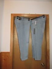 Light Indigo Blue Crop Kick Jean Pants GAP size 18/34 and 16/33 ,99% cotton NWT