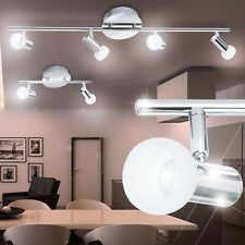 Valuable LED spot light Ceiling light Living room Room lighting Chrome Glass