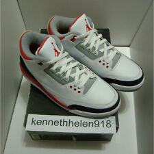 NEW 2007 NIKE AIR JORDAN III 3 RETRO WHITE FIRE RED CEMENT GREY SIZE 9.5