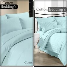 100% Egyptian Cotton 800 1000 1200 TC UK Super King Size Bedding's in Sky Blue *