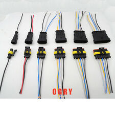 5sets/lot Kit 1/2/3/4/5/6 Pin Way Waterproof Electrical Wire Connector Plug Wire