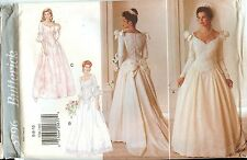 Butterick 3796 Bridal Wedding Gown Dress sewing pattern UNCUT FF vintage NEW