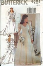 Butterick 4501 Bridal Wedding Gown Dress sewing pattern UNCUT FF vintage NEW OOP