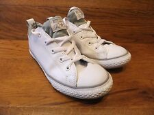 Converse CT All Star White Leather  Trainers Size UK 3 EUR 35.5