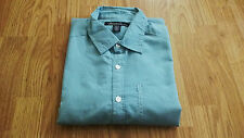 Kenneth Cole New York Men's Shirt Long Sleeve Button-Front Pocket Shirt Green