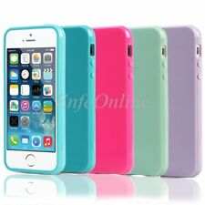 Apple iPhone 5 5C 5S SE Slim Soft Candy Silicone Gel Rubber Back Case Cover Skin