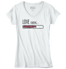 Love Loading Women Shirts Funny Picture Shirt Cute Gift Cool Junior V-Neck Tee