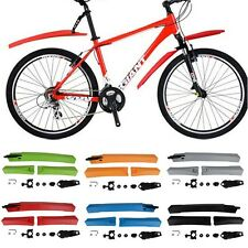 Cycling Mountain Bike Bicycle Front Rear Mudguard Tire Fender Set Multi Color