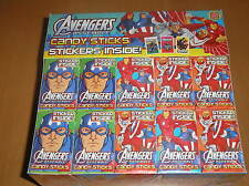 MARVEL AVENGERS CANDYS STICKS -INCL STICKERS -PARTY BAGS, WEDDINGS AND BIRTHDAYS